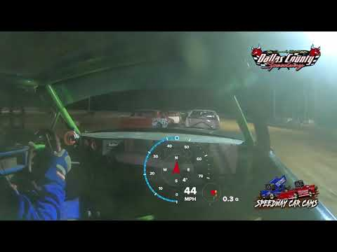 #26 Allen Carney - Pure Stock - 8-13-2021 Dallas County Speedway - In Car Camera - dirt track racing video image