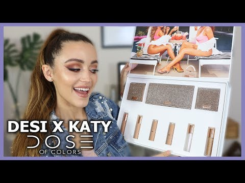 DESI X KATY DOSE OF COLORS COLLECTION | Lip Swatches + Eye Look