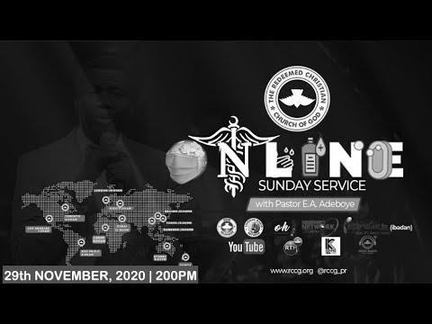 RCCG NOVEMBER 29TH 2020  PASTOR E.A ADEBOYE SPECIAL SERVICE