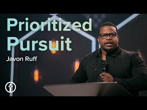 Prioritized Pursuit  Pastor Javon Ruff