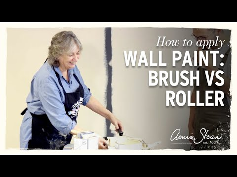How to Apply Wall Paint with Annie Sloan: Brush vs Roller.