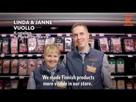 Sometimes a great idea can come to you at breakfast. The retailers of K-Market Merikarvia, Janne and Linda Vuollo, had a lightbulb moment, and as a result, Finnish products are now easier to spot on their store shelves.   Kesko is a forerunner in Finnish trade. We operate in the grocery trade, the building and technical trade, and the car trade. Our divisions and chains act in close cooperation with retailer entrepreneurs and other partners. Kesko and K-retailers together form K Group. Kesko is the world's most sustainable trading sector company (The Global 100 Most Sustainable Corporations in the World).   K – for shopping to be fun.   Further information:  www.kesko.fi https://vuosiraportti2018.kesko.fi/ https://annualreport2018.kesko.fi/ LinkedIn: https://www.linkedin.com/company/kesko