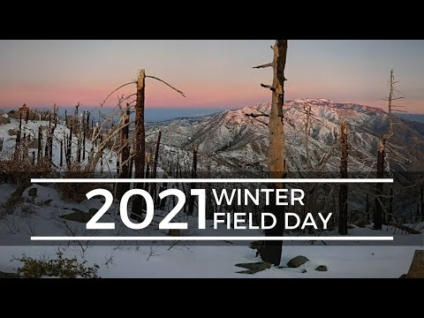 Snow in SoCal for Winter Field Day