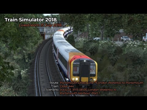 444 01 1P17 0800 London Waterloo to Portsmouth Livestream 15072018