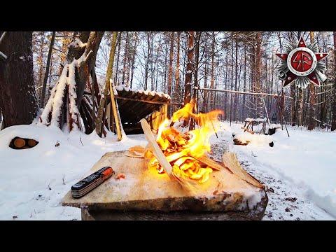 Winter Survival Fire - Siberian Tinder Sticks And A Micro Ferro Rod