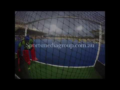 Australia Goal Keeper drill.  Australian mens hockey team