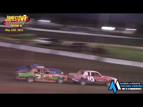 Jamestown Speedway Bomber A-Main (5/15/21) - dirt track racing video image