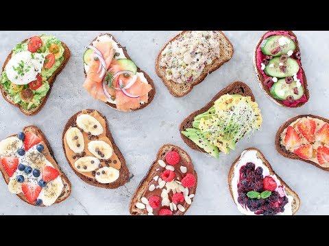 10 Easy and Healthy Breakfast Recipes! Toast 10 Ways