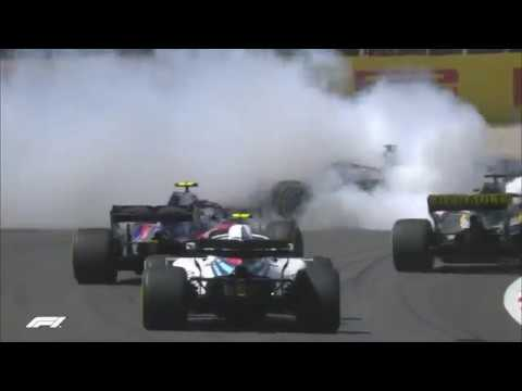 2018 Spanish Grand Prix: Lap 1 Crash From All The Angles