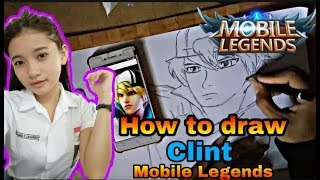 HOW TO DRAW HERO CLINT MOBILE LEGEND [ SPEED DRAWING ] MENGGAMBAR HERO CLINT