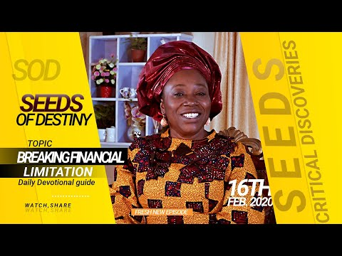 Dr. Becky Paul-Enenche - SEEDS OF DESTINY - SUNDAY 16TH FEBRUARY, 2020