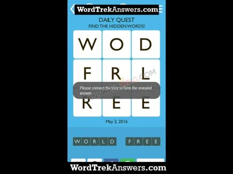 Word Trek Daily Quest May 2 2016 Answers