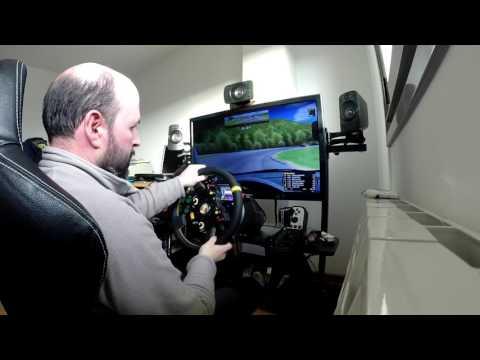 Probando nuevo volante OneSimPro WS1 en una base T300RS