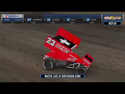 DIRTVision Replays from Knoxville Raceway in Knoxville, Iowa on April 7th, 2020 - World of Outlaws NOS Energy Drink Sprint Cars iRacing.com Invitational - dirt track racing video image