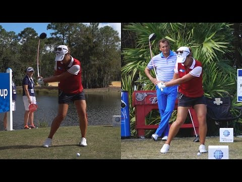 LYDIA KO 120fps SYNCED DRIVERS GOLF SWING REG & SLOW MOTION 1080p HD