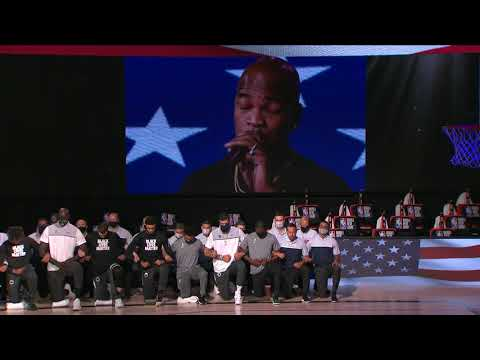 @Ne-Yo Performs National Anthem As Celtics & Bucks Kneel In Solidarity