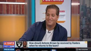 Good Morning Football: How Should Antonio Brown Be Received By Raiders When He Returns?