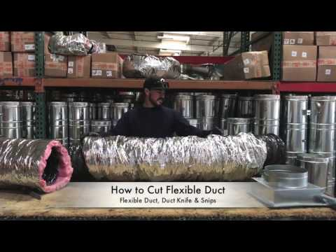 How-To Cut Flexible Duct - The Duct Shop
