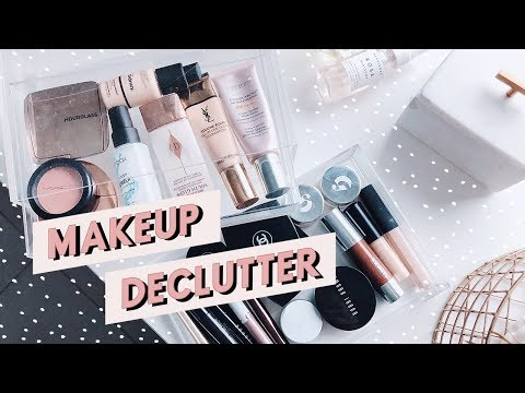 MAKEUP CLEAR OUT + SKINCARE DECLUTTERING | ORGANISE WITH ME | I Covet Thee