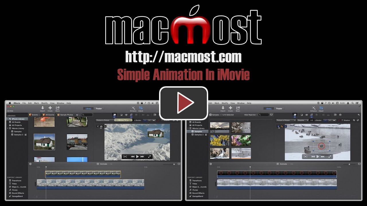 simple animation in imovie macmost