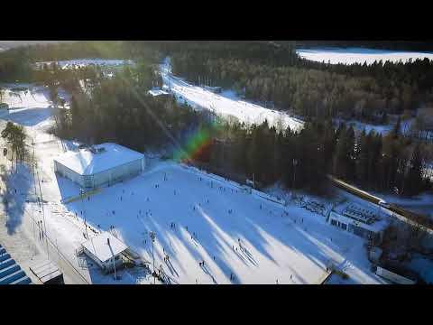 Billingen Skövde - En solig vinterdag på isbanan