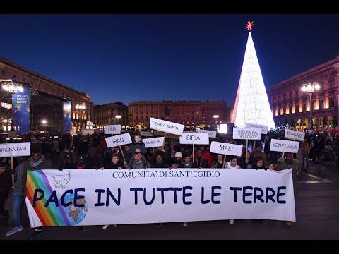 1 gennaio 2020 immagini della marcia e omelia di mons. Delpini nella Messa della Pace in Duomo