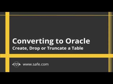 Converting to Oracle - Create Drop or Truncate a Table