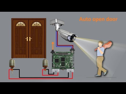 motion sensor door opener project
