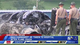 Dale Earnhardt Jr. and other passengers taken to hospital after plane crash