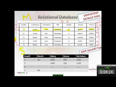 MS Access 2007- 7- أساسيات قواعد البيانات ذات العلاقات