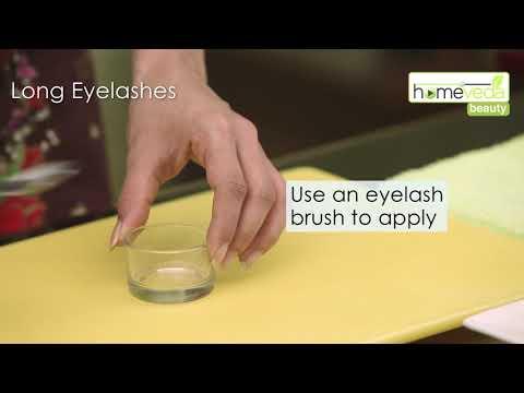 Grow Your Eyelashes Using Castor Oil| Easy Remedy - Homeveda
