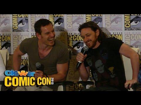 X-Men: Days of Future Past Press Conference 2013 Comic-Con: Hugh Jackman, Michael Fassbender - UCQMbqH7xJu5aTAPQ9y_U7WQ