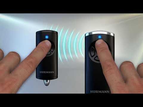 Hörmann installationsguide: Signalöverföring mellan handsändare HS 5 BS och HSE 4 BS