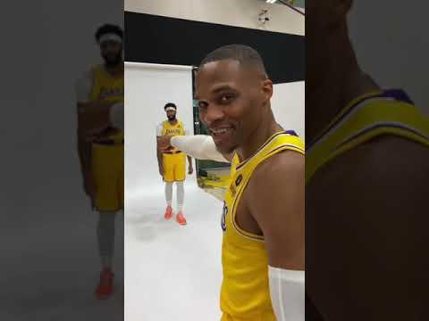 Inside Look At Lakers #NBAMediaDay 👀 | #Shorts
