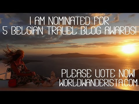 Nominated 5 times at the Belgian Travel Blog Awards!