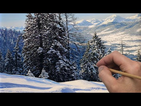 How to paint snow in mountains | Timelapse | Episode 191