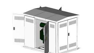 3D Drawing High Voltage Transformer Substation from Germarel GmbH