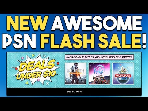 NEW Awesome PSN Flash Sale! Games UNDER $10!