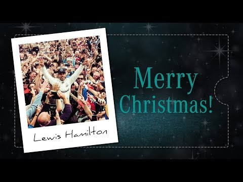 Merry Christmas from Lewis Hamilton!