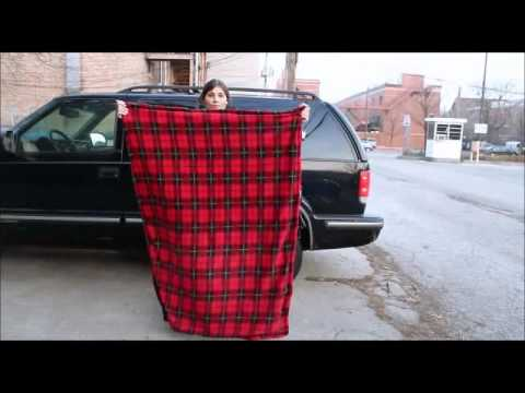 Car Cozy Heated Blanket with Timer - 12 Volt, Model# TWI-2001