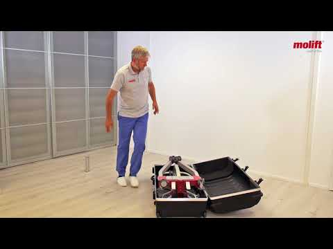 Learn how to pack the hoist Molift Smart 150 in a Travel Suitcase