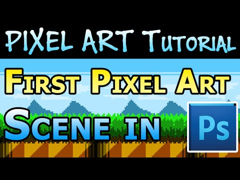 Pixel Art Tutorial - Creating your first level tiles in Photoshop