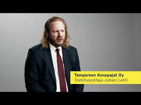 Tampereen Konepajat on konepaja-alan konserni, joka tarjoaa asiakkailleen laadukkaita ja korkeatasoisia koneita, laitteita ja komponentteja; turvallisesti ja ympäristöä säästäen. Yhtiö on rikkonut toimialalla stereotypioita olemalla innovatiivinen ja luomalla asiakkailleen ominaisuuksiltaan parempia ja kestävämpiä tuotteita. Yrittäjä Juhani Lehti.