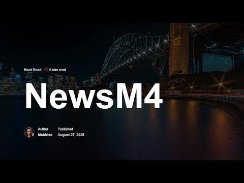 Mobirise HTML News Template | NewsM4