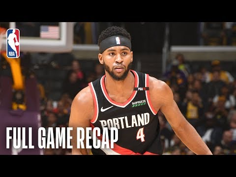TRAIL BLAZERS vs LAKERS | Moe Harkless Comes Up Clutch For Portland | April 9, 2019