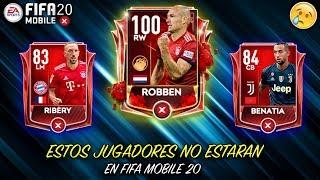 ESTOS JUGADORES NO ESTARAN EN FIFA MOBILE 20!!! TOP FIFA MOBILE 19   Mrojos56