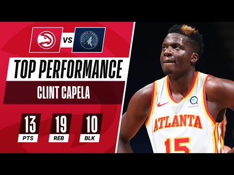 Clint Capela's Tallies WILD & Rare Triple-Double | 10 BLOCKS ❌