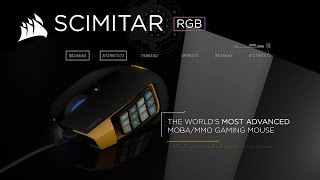 Mouse Óptico Gamer Corsair Scimitar