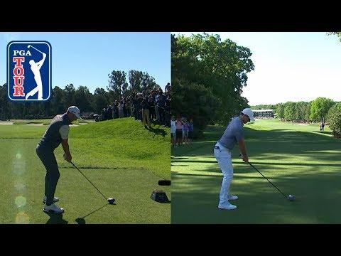 Dustin Johnson's fade vs. Rory McIlroy's draw