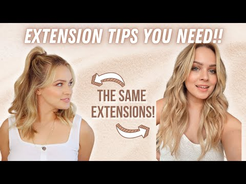 Hair Extension Hacks and Care you NEED to know! - KayleyMelissa